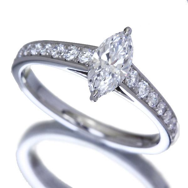 【HANDMADE】 PT950 0.56ct D SI1 ダイヤモンド リング 0.334ct ダイヤモンド