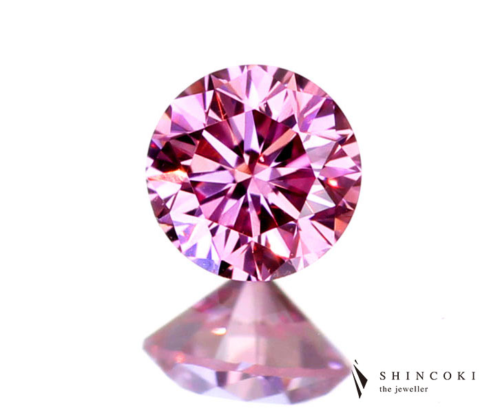 0.082ct FANCY INTENSE PURPLISH PINK VVS2