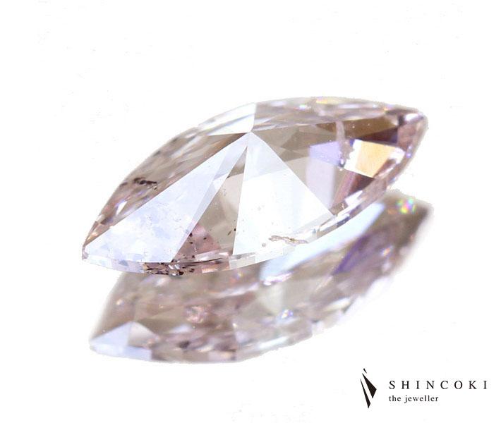 0.335ct FANCY LIGHT ORANGY PINK I-1 ダイヤモンド ルース