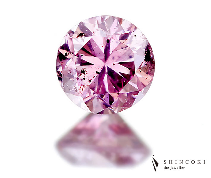 0.100ct FANCY INTENCE PURPLISH PINK I1 ダイヤモンドルース