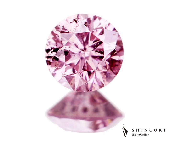 0.090ct FANCY INTENSE PURPLISH PINK I1 ダイヤモンドルース
