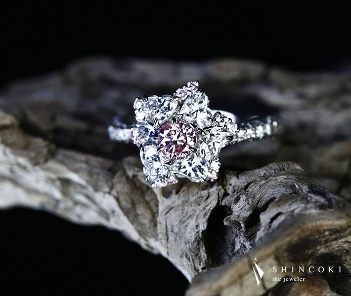 PT950 ピンクダイヤモンド FANCY INTENSE PINK リングTotal1.762ct バイオレットダイヤモンド ※GIA/中央宝石研究所