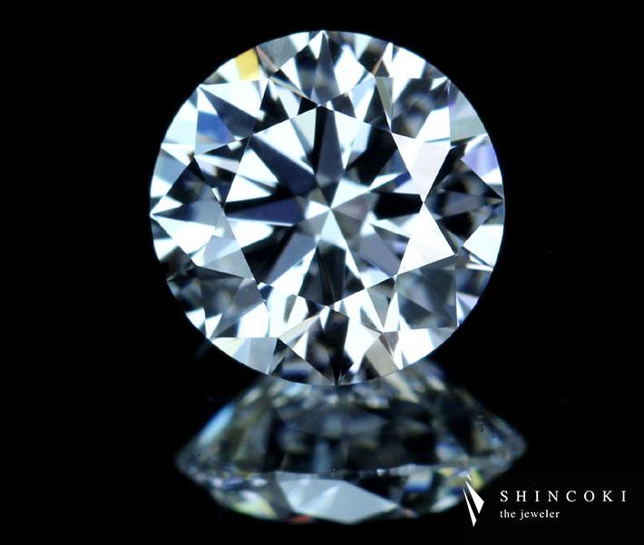 ダイヤモンド ルース 0.570ct E VVS1 3EX H&C ※中央宝石研究所ソーティングシート、GIA鑑定書