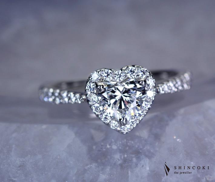 【HANDMADE】PT950 ダイヤ ダイヤモンド リング 0.72ct 0.38ct ダイヤモンド D IF ※GIA鑑定書付
