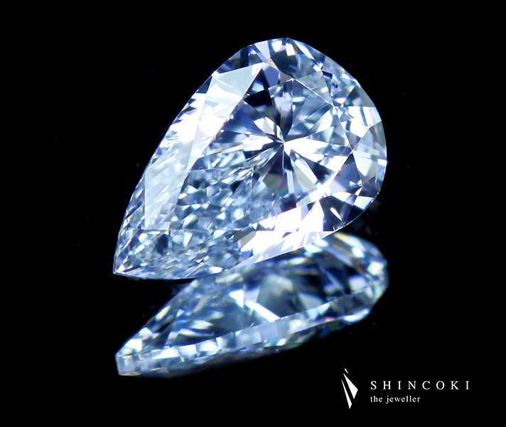 0.507ct FANCY INTENSE BLUE SI1 TYPE2B インテンスブルーダイヤモンドルース※中央宝石研究所ソーティングシート付