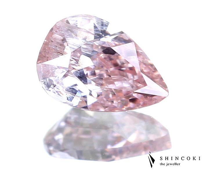 ピンクダイヤモンド ルース 0.205ct FANCY PINK I2 PS ※中央宝石研究所ソーティングシート付