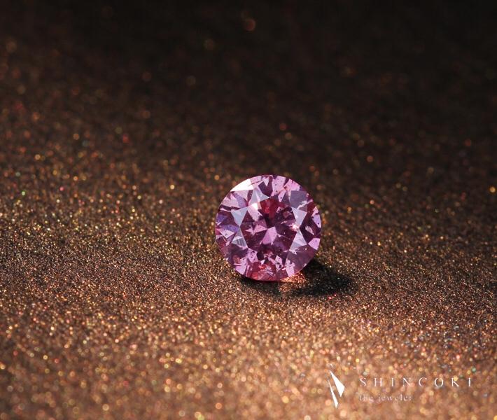 ピンクダイヤモンド ルース 0.290ct FANCY VIVID PURPLISH PINK I1 ※中央宝石研究所ソーティングシート付