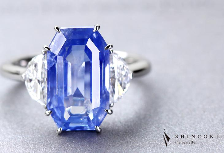 PT950 6.10ct カシミールサファイア リング 0.74ctダイヤモンド ※GRS鑑別付