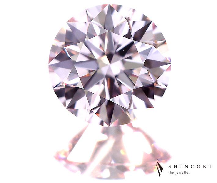 【TYPE2A】0.314ct FANCY LIGHT PURPLISH PINK IF H&C※中央宝石研究所ソーティングシート付き