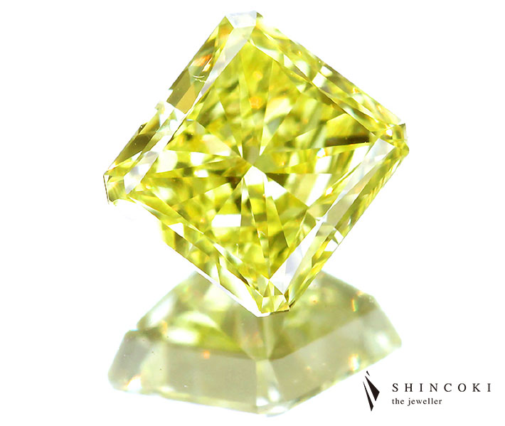 1.03ct FANCY INTENSE YELLOW VS2 イエローダイヤモンドルース※GIA COLORED DIAMOND REPORT付