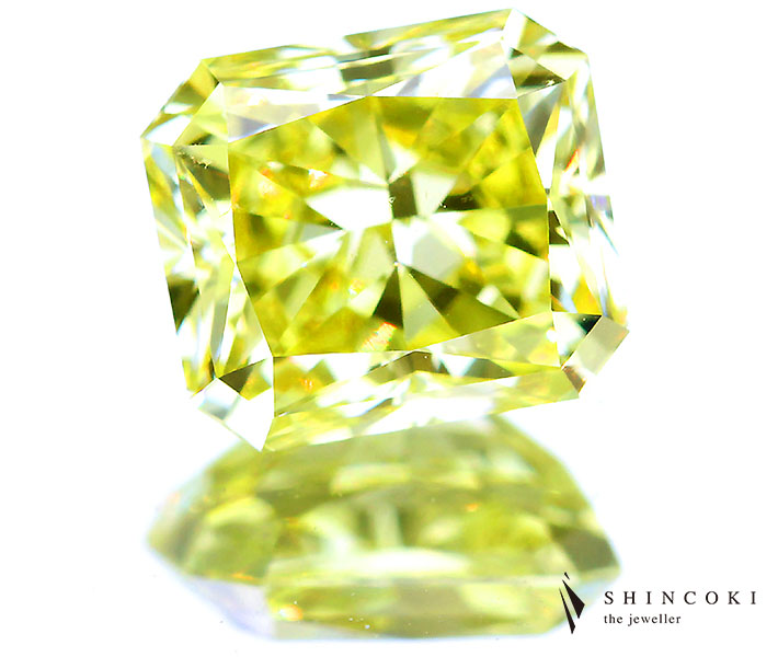 1.54ct FANCY INTENSE YELLOW VVS2 イエローダイヤモンドルース※GIA COLORED DIAMOND REPORT付