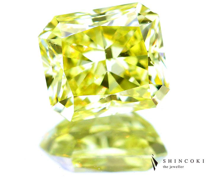1.54ct FANCY INTENSE YELLOW VVS2 イエローダイヤモンドルース※GIA COLORED DIAMOND REPORT付