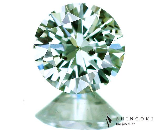 0.35ct FANCY BLUISH GREEN I1 グリーンダイヤモンドルース※GIA鑑定書付き