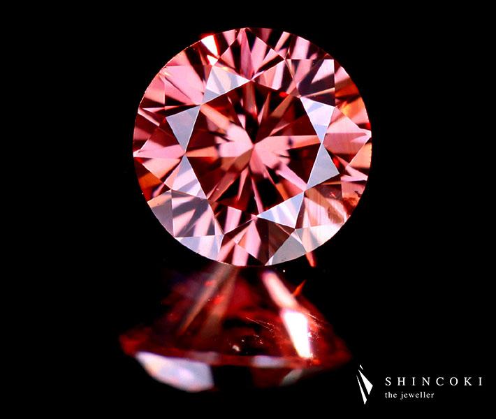 0.156ct FANCY DEEP PINK SI1 ピンクダイヤモンドルース※中央宝石研究所ソーティングシート付