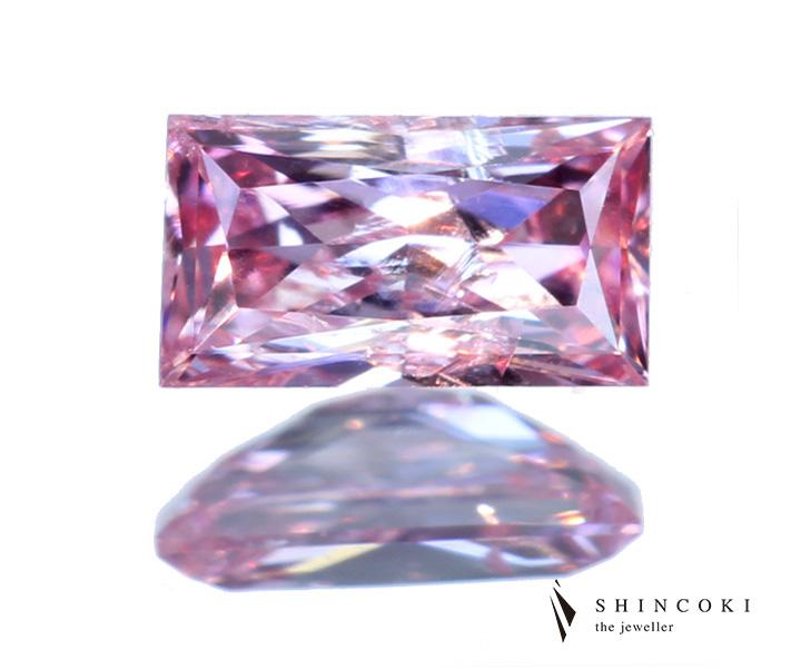 ピンクダイヤモンドルース 0.120ct FANCY INTENSE PURPLISH PINK I-1 ※中央宝石研究所ソーティングシート付