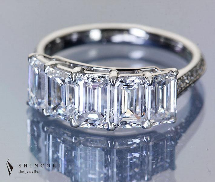 【HANDMADE】PT950 ダイヤモンド リング 2.714ct 0.184ct ダイヤモンド ※中央宝石研究所ソーティングシート付
