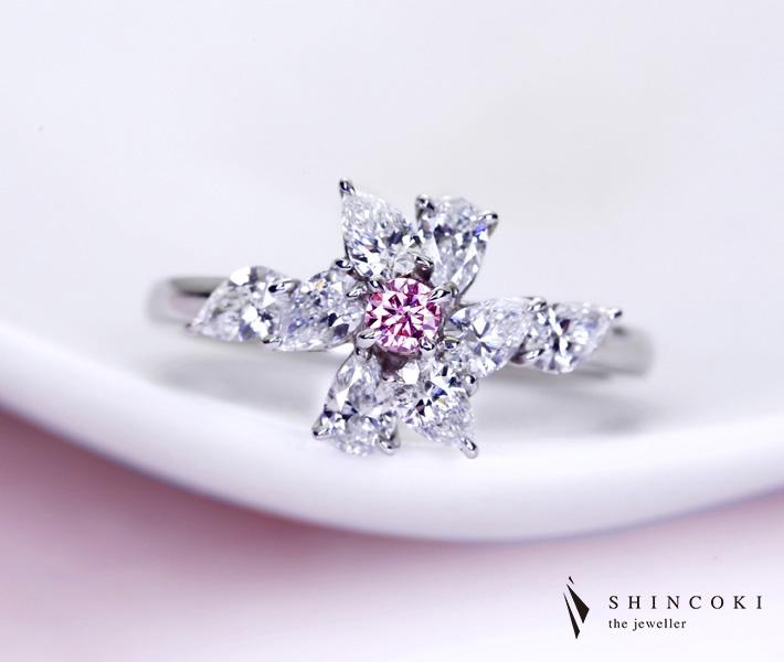 【HANDMADE】P950 ピンクダイヤモンド 0.086ct リング ダイヤモンド 0.850ct※AGTジェムラボラトリーソーティング付