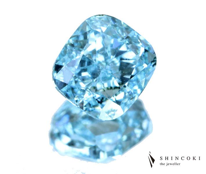 ダイヤモンド ルース 0.390ct FANCY INTENSE BLUE-GREEN VS1 ※GIA鑑定書付