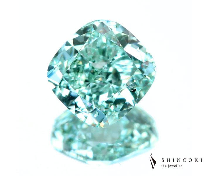 ダイヤモンド ルース 0.37ct FANCY INTENSE GREEN SI1 ※GIA鑑定書付