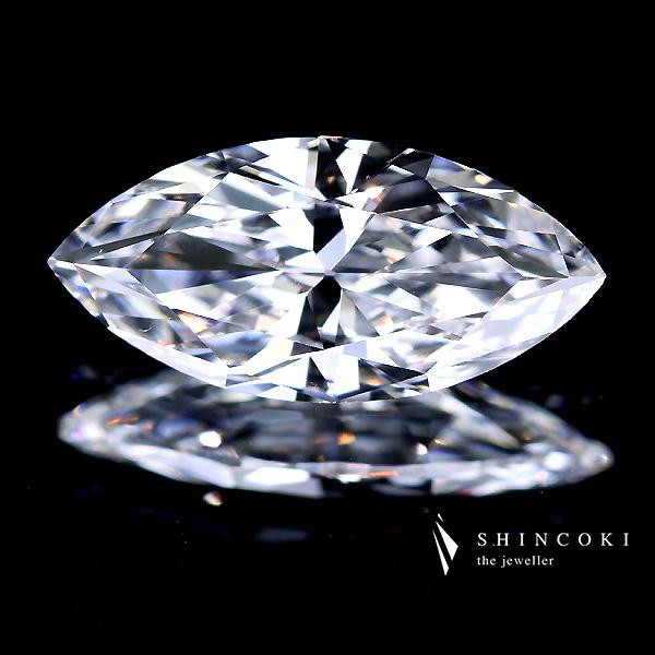 【TYPE2A】1.086ct D VS1 タイプ2マーキスカットダイヤモンドルース※中央宝石研究所ソーティングシート付