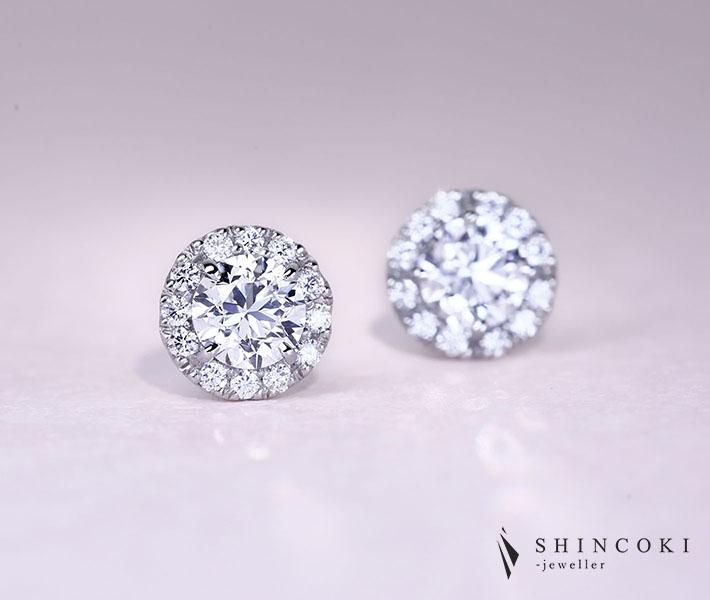 【HANDMADE】PT950 ダイヤモンド 0.5ct D VS1/0.5ct D VS1 ダイヤモンド 0.098ct/0.098ct※GIAレポート付