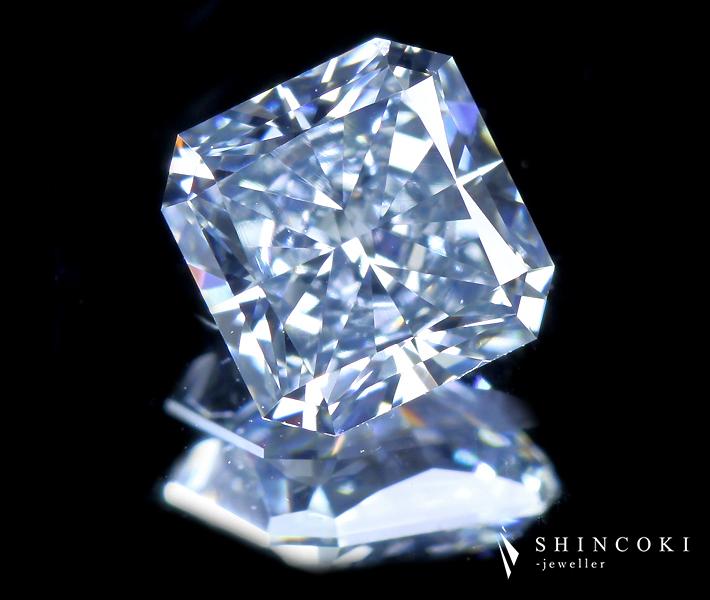 0.752ct FANCY GRAYISH BLUE VS1 TYPE2B ブルーダイヤモンドルース※AGTソーティングシート付
