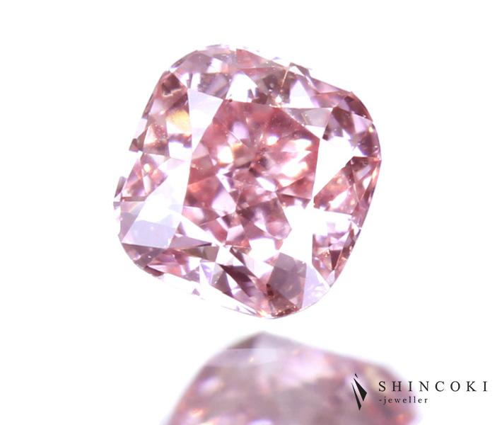 ピンクダイヤモンド 0.061ct FANCY PINK SI-1 ※中央宝石研究所ソーティングシート付
