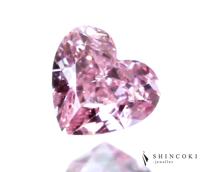 ピンクダイヤモンド 0.058ct FANCY INTENSE PINK SI-1 ※中央宝石研究所ソーティングシート付