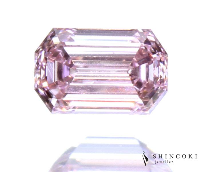 ピンクダイヤモンド 0.067ct FANCY PINK VS-1 ※中央宝石研究所ソーティングシート付