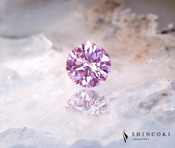 ピンクダイヤモンド ルース 0.401ct FANCY PINK SI-2〔CGL〕