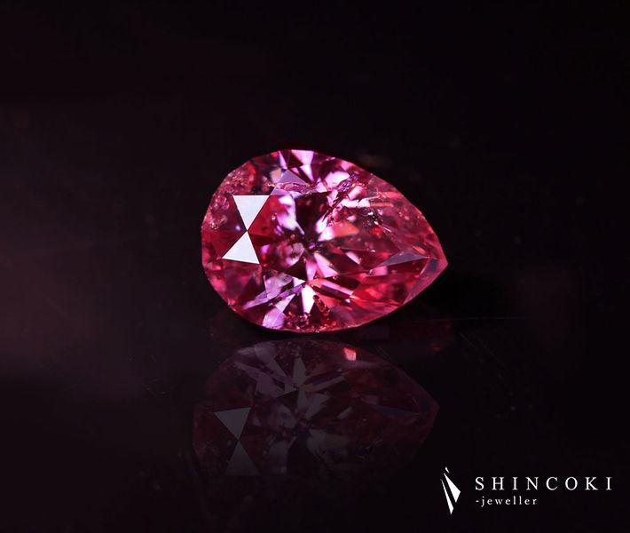 ピンクダイヤモンド 0.445ct FANCY VIVID PURPLISH PINK I-1〔CGL〕ヴィヴィッドピンク 天然ピンクダイヤモンド