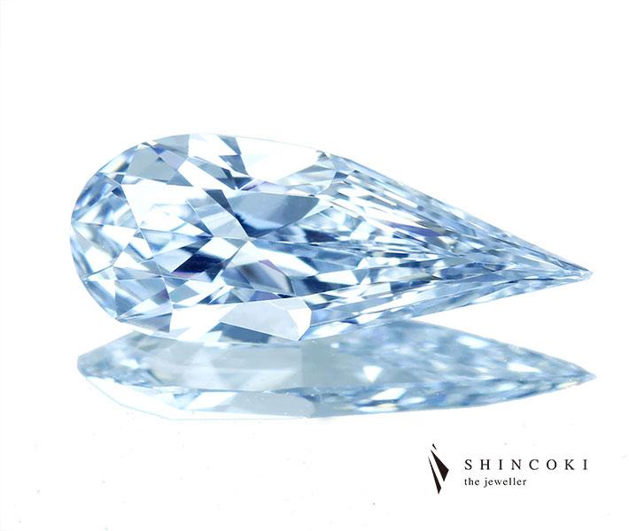 ブルーダイヤモンド ルース 0.50ct FANCY LIGHT BLUE  VS1〔GIA〕