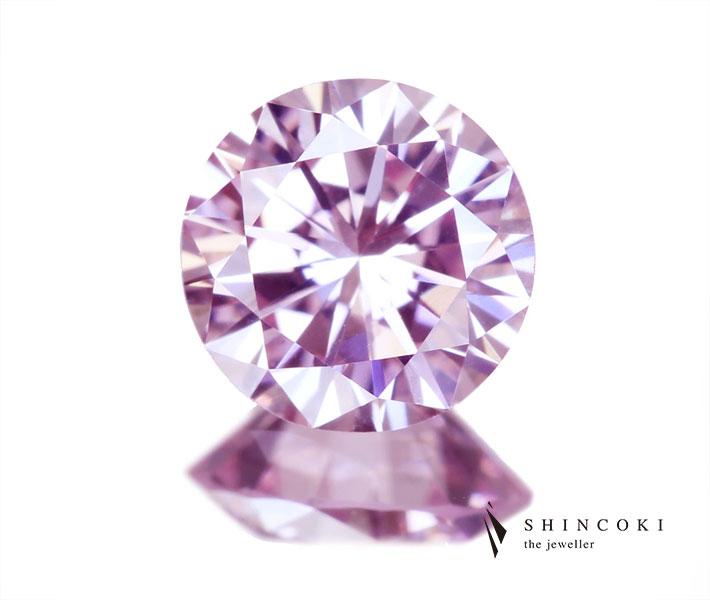 ピンクダイヤモンド ルース 0.33ct FANCY LIGHT PINK VS1〔GIA〕