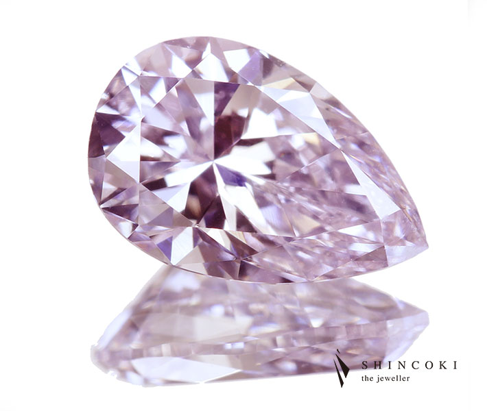ピンクダイヤモンド 0.716ct FANCY LIGHT PURPLISH PINK VS1〔AGT〕