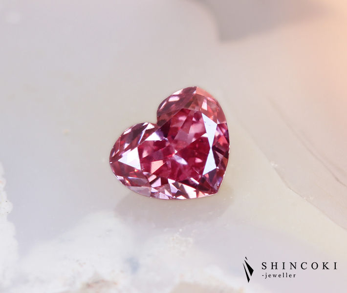 ピンクダイヤモンドルース 0.131ct FANCY DEEP PINK SI-1 ※中央宝石ソーティング付