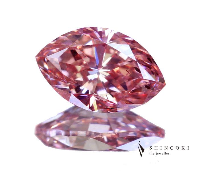 ピンクダイヤモンド ルース 0.38ct FANCY ORANGY PINK SI2〔GIA〕