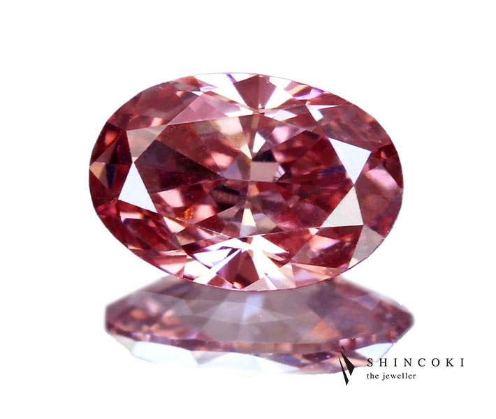 ピンクダイヤモンド ルース 0.27ct FANCY INTENSE ORANGY PINK VS1〔GIA〕