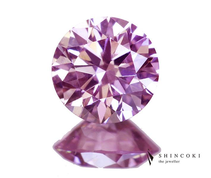 アーガイルピンクダイヤモンド 0.184ct FANCY PURPLISH PINK VS-2〔CGL〕アーガイル刻印入