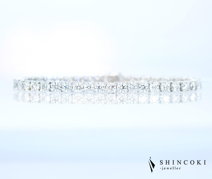 PT850 ダイヤモンド 10.0ct H&C ハートアンドキューピッド ブレスレット