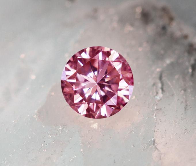《CLOSING MOUNTAIN MUSEUM》【PINKDIAMOND Lot.22】ピンクダイヤモンド 0.086ct FANCY PINK VS-1 ルース ラウンドシェイプ《PINKDIAMOND》