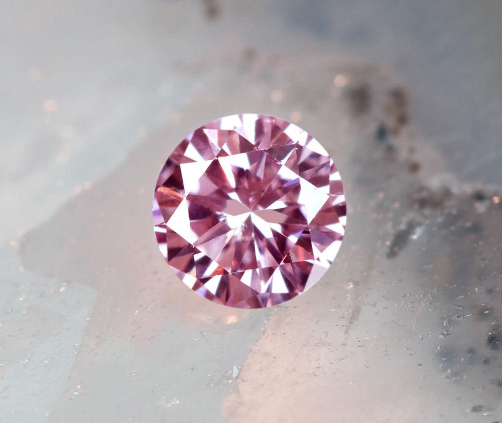 《CLOSING MOUNTAIN MUSEUM》【PINKDIAMOND Lot.18】ピンクダイヤモンド 0.131ct FANCY PINK SI-1 ルース ラウンドシェイプ《PINKDIAMOND》