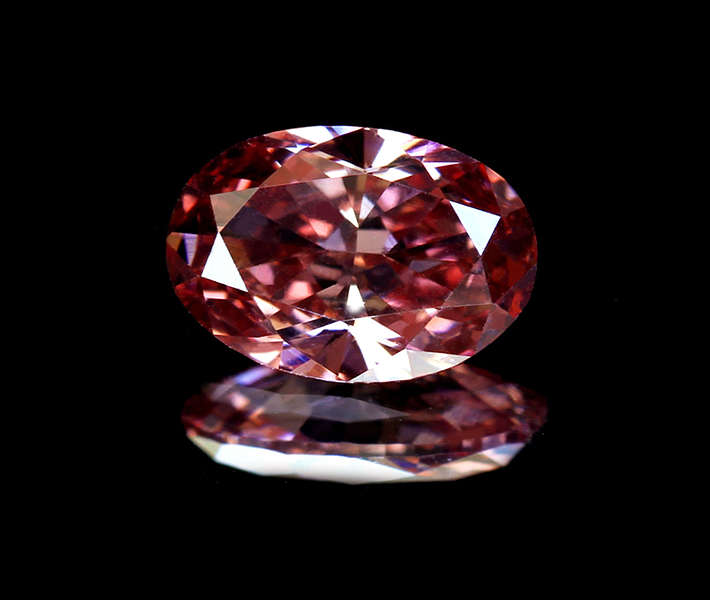 《CLOSING MOUNTAIN MUSEUM》【PINKDIAMOND Lot.24】ピンクダイヤモンド ルース 0.27ct FANCY INTENSE ORANGY PINK VS1〔GIA〕《PINKDIAMOND》